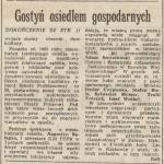 """""""Gostyń osiedlem gospodarnych"""" Trybuna Robotnicza z dn. 11 grudnia 1987 roku (część 1)"""